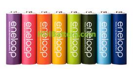 Pila Recargable Eneloop AA Blister 8U 2.000mAh 8 Colores 1.500 Ciclos